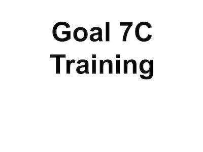 Goal 7C Training